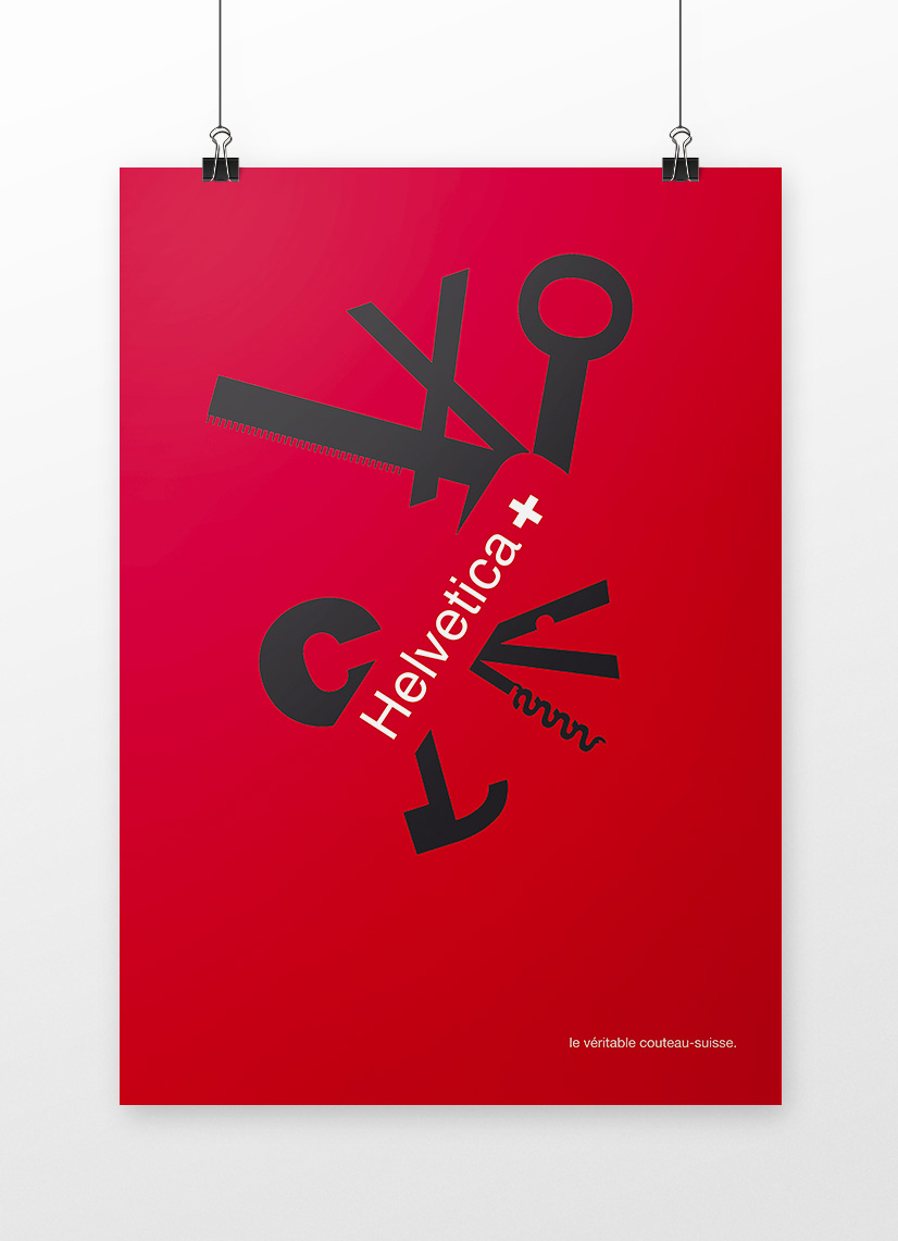 affiches typographie helvetica